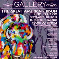 'The Great American Bison' presented by Tracy Miller Fine Art at Tracy Miller Gallery, Manitou Springs CO