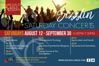 Gold Hill Mesa Saturday Concerts