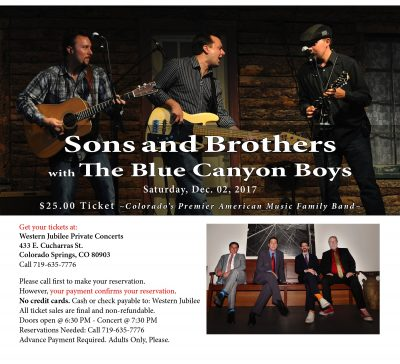Sons and Brothers with The Blue Canyon Boys