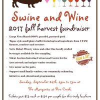 Swine and Wine - Colorado Farm and Art Market Fall Harvest Fundraiser Dinner