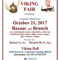 Viking Fair Bazaar and Brunch