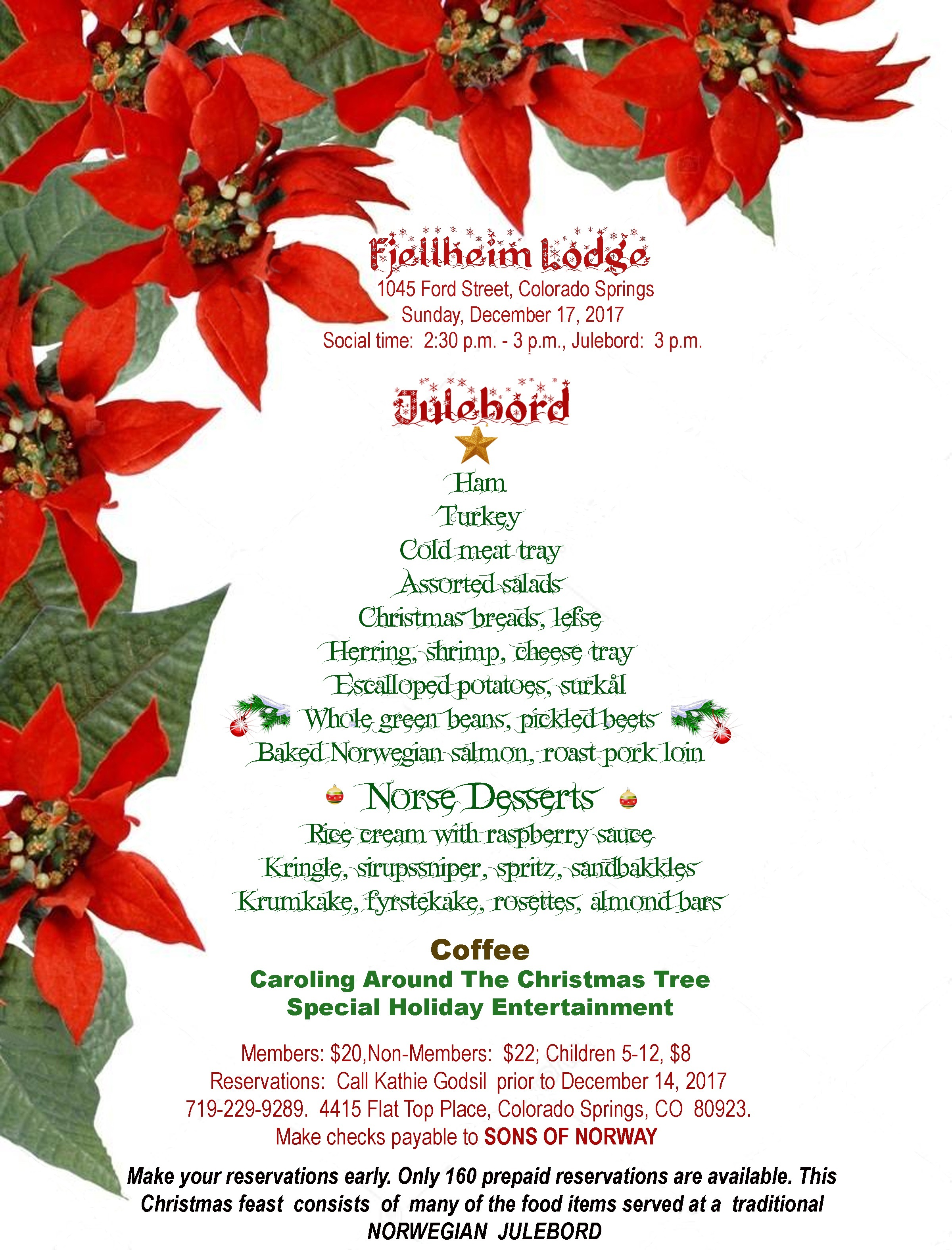 Julebord - A Norwegian Christmas Feast presented by Fjellheim Lodge ...