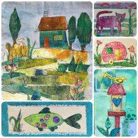 Paint Paper Collage Stitch Magic