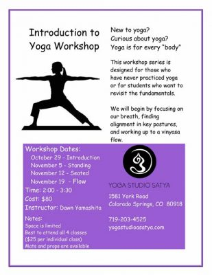 Introduction To Yoga Workshop Series