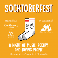 Socktoberfest Benefit Concert presented by Welcome Fellow at Welcome Fellow, Colorado Springs CO