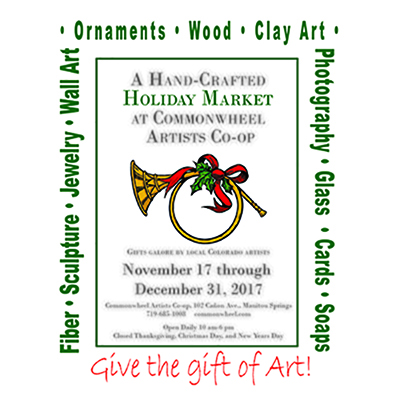 Holiday Market presented by Commonwheel Artists Co-op at Commonwheel Artists Co-op, Manitou Springs CO