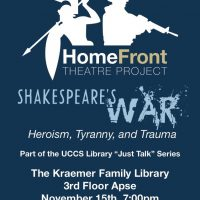 Shakespeare's War presented by UCCS Visual and Performing Arts: Theatre and Dance Program at UCCS - Kraemer Family Library, Colorado Springs CO