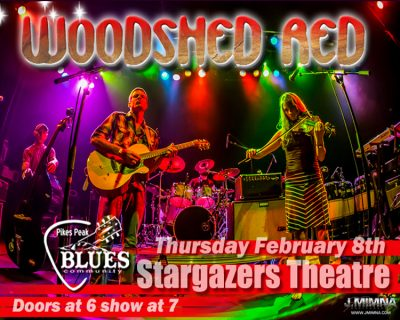 Pikes Peak Blues Community Presents Woodshed Red presented by Stargazers Theatre & Event Center at Stargazers Theatre & Event Center, Colorado Springs CO