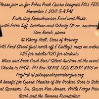Scandinavian Fall Fest presented by Pikes Peak Opera League at Viking Hall, Colorado Springs, Colorado Springs CO