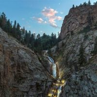 Seven Falls located in Colorado Springs CO