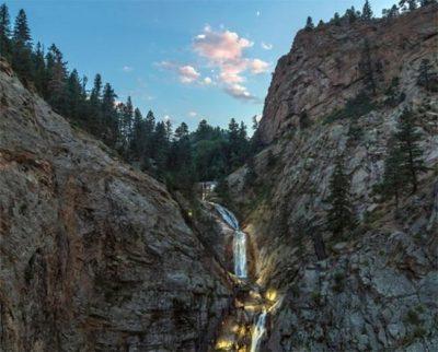 Seven Falls located in Colorado Springs CO