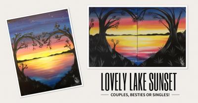 Couples besties singles paint night