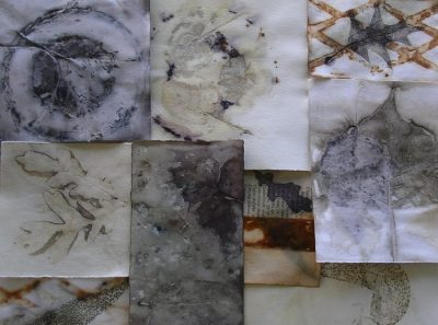 Inspire Me: Ecoprint on Paper