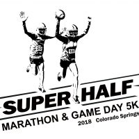 The Super Half Marathon & Game Day 5K presented by <i>Virtual</i> First Friday: April 3 at Plaza of the Rockies, Colorado Springs CO