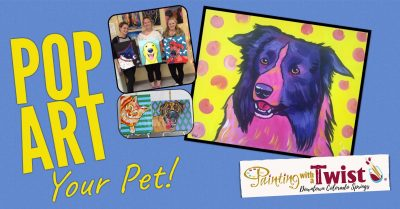 Pop Art Your Pet Portrait Painting Class, Painting with a ...