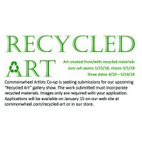 Recycled Art Call for Artists