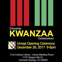 Umoja Opening Ceremony: 28th Annual Colorado Springs Citywide Kwanzaa Celebration