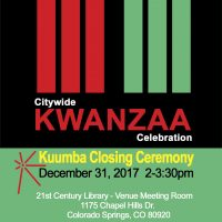 Kuumba Closing Ceremony: 28th Annual Colorado Springs Citywide Kwanzaa Celebration