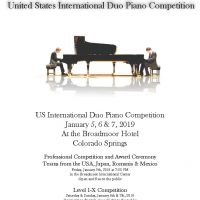 US International Duo Piano Competition presented by Broadmoor International Center at Broadmoor International Center, Colorado Springs CO