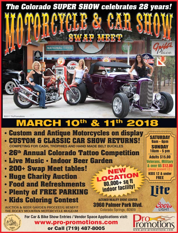 Th Super Show Swap Meet Presented By Pro Promotions Inc - Old school car show colorado springs