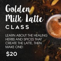 Golden Milk Latte Class presented by <i>Virtual</i> First Friday: April 3 at ,