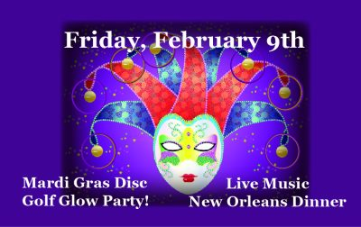 Mardi Gras Dance Party with the Rocky River Band presented by March First Friday in the Pikes Peak Region at Shining Mountain Golf Club, Woodland Park CO