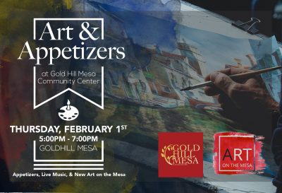 Art & Appetizers presented by ArtPOP Series: A Conversation with Vanessa Little at Gold Hill Mesa Community Center, Colorado Springs CO