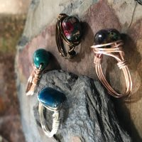 Earth Expressions: Wire-Wrapped Rings presented by <i>Virtual</i> First Friday: April 3 at Bemis School of Art at the Colorado Springs Fine Arts Center at Colorado College, Colorado Springs CO