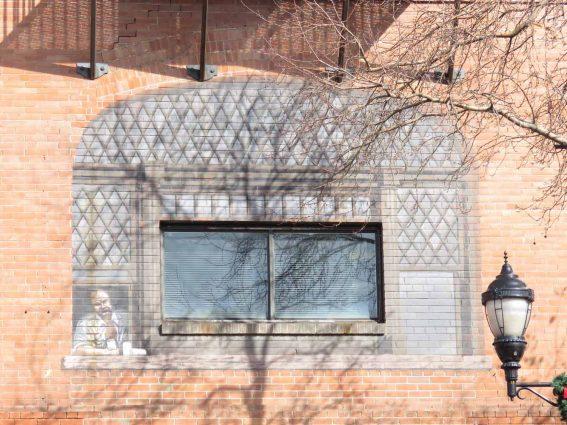 Waycott Building: Man in Second Floor Window