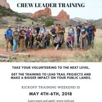 Pikes Peak Regional Crew Leader Training