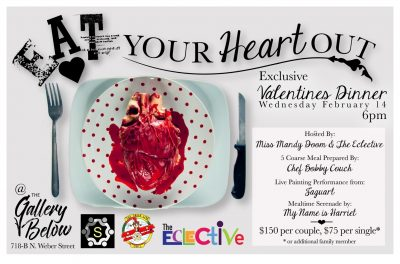 Valentine's Day Dinner presented by <i>Virtual</i> First Friday: April 3 at ,