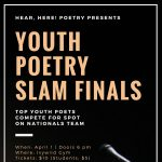Hear, Here! Poetry Youth Final Stage Poetry Slam presented by Hear, Here Poetry at Ivywild School Auditorium, Colorado Springs CO