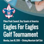 Eagles for Eagles Golf Tournament presented by Pikes Peak Council Boy Scouts of America at Shining Mountain Golf Club, Woodland Park CO