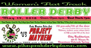 Pikes Peak Derby Dames Slamazons vs. Rocky Mountain Roller Girls Project Mayhem