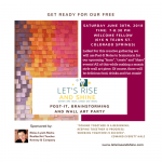 'Let's Rise and Shine' presented by Welcome Fellow at Welcome Fellow, Colorado Springs CO