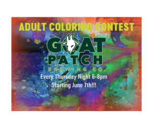 Therapeutic Thursdays Adult Coloring Contest presented by Goat Patch Brewing Company at ,