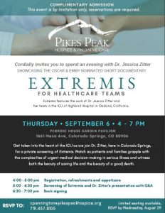 Extremis Documentary Screening presented by Pikes Peak Hospice & Palliative Care at Penrose House Garden Pavilion, Colorado Springs CO