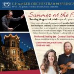 Summer at the Castle with Jennifer DeDominici presented by Chamber Orchestra of the Springs at Glen Eyrie Castle & Conference Center, Colorado Springs CO