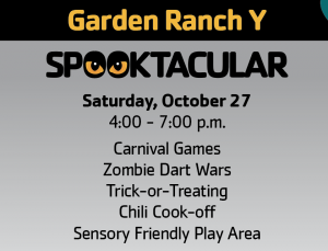 get ready for a spooktacular evening with the garden ranch ymca the night will include carnival games zombie dart wars trick or treating - Garden Ranch Ymca