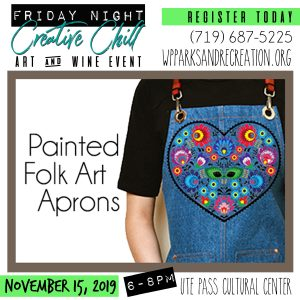 Friday Night Creative Chill: Painted Folk Art Aprons presented by Veterans Week at PPCC at Ute Pass Cultural Center, Woodland Park CO