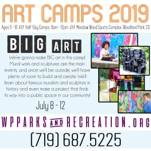 Woodland Park Art Camps 2019: BIG Art!