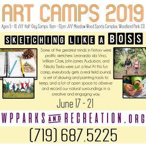 Woodland Park Art Camps 2019: Sketching Like A Boss
