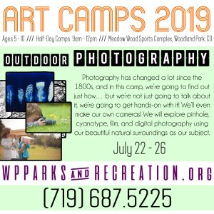 Woodland Park Art Camps 2019: Outdoor Photography