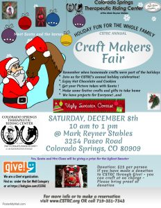 Colorado Springs Therapeutic Riding Center's Christmas Craft Makers Fair