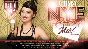 Gatsby New Year's Eve at Motif presented by Motif Jazz Cafe at Motif Jazz Cafe, Colorado Springs CO