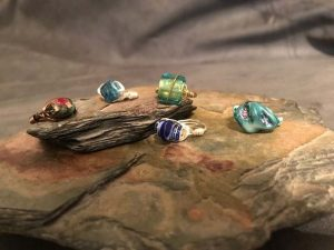 A60 Earth Expressions Wire-Wrapped Rings