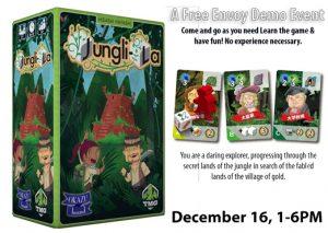 Jungli-la Envoy Demo presented by Petrie's Family Games at Petrie's Family Games, Colorado Springs Colorado
