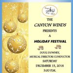 """Holiday Festival"" Concert presented by Canyon Winds Band at Coronado High School Auditorium, Colorado Springs CO"