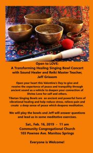 Open to LOVE:A Transformative Healing Singing Bowl Concert & Class presented by PPLD: Manitou Springs Library at Community Congregational Church of Manitou Springs, Manitou Springs CO