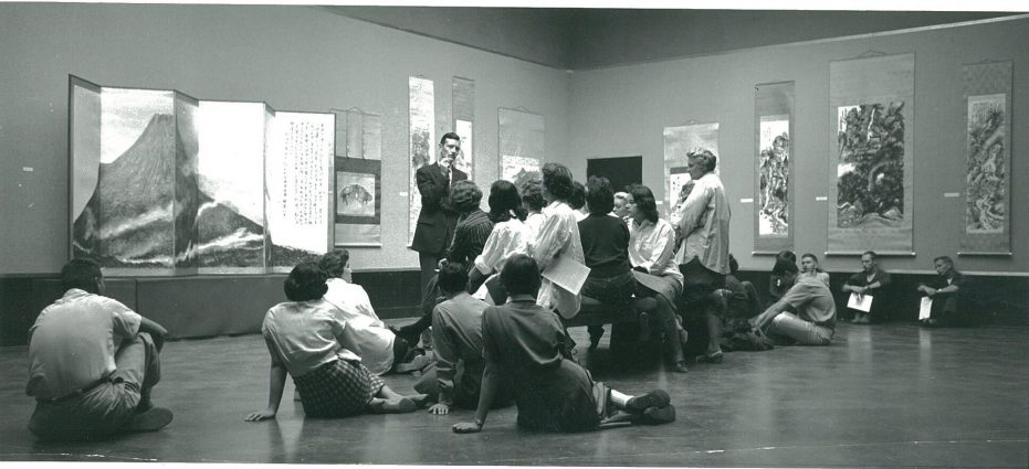 Bernard Arnest instructs a class, circa 1950-60s.